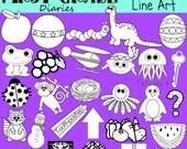 ABC Phonics Digital Line Art Set Alphabet -- Buy 2 Get 1 FREE