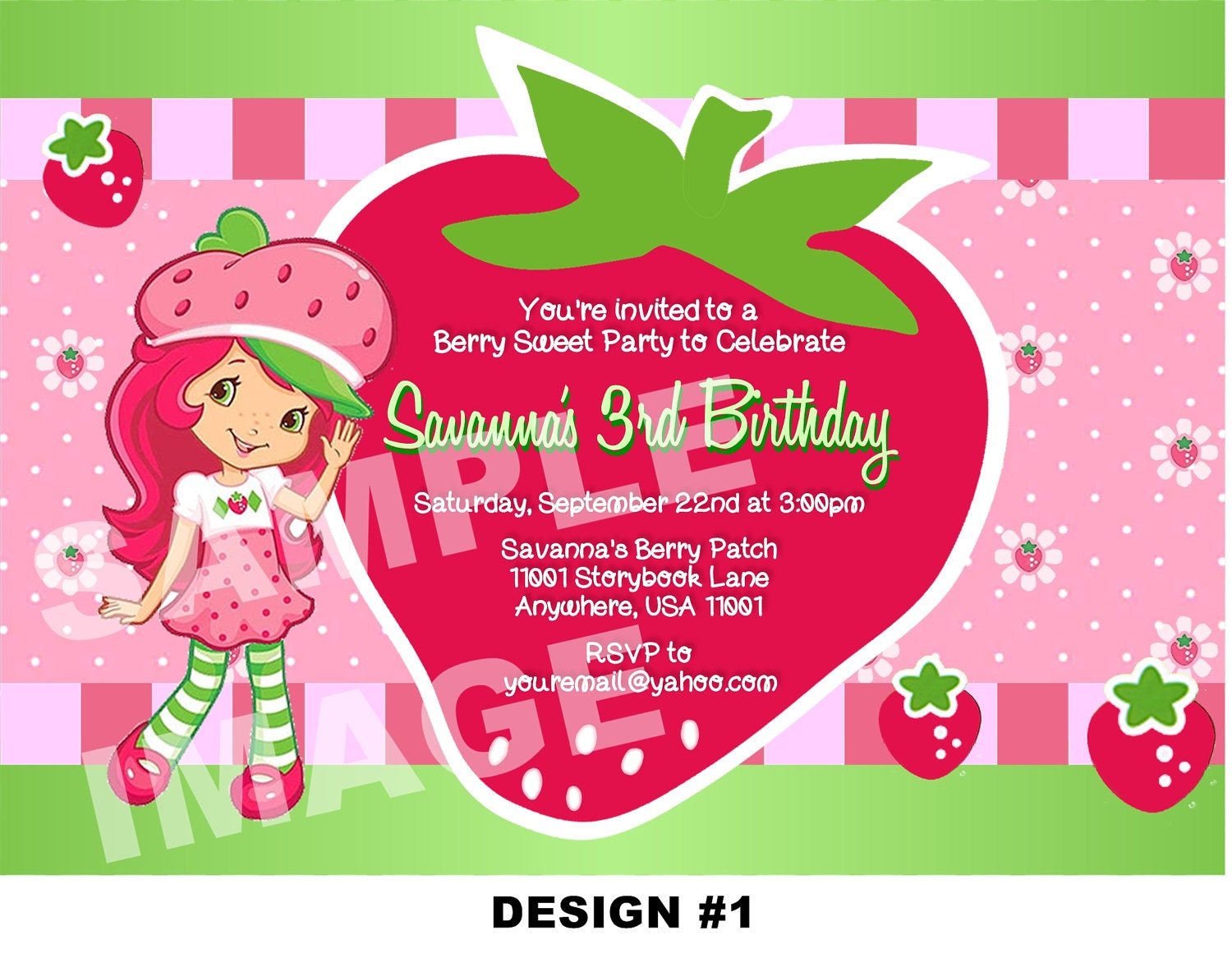 Strawberry Shortcake Birthday Invitations is one of our best ideas you might choose for invitation design