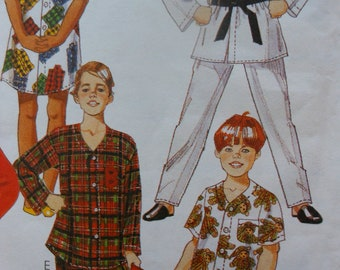 Easy McCall's Girls Nightshirt and Boys Pajamas and Robe Pattern 2949