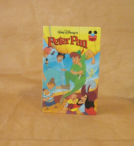 Coptic Bound Blank Journal - Upcycled Children's Book Covers / Peter Pan