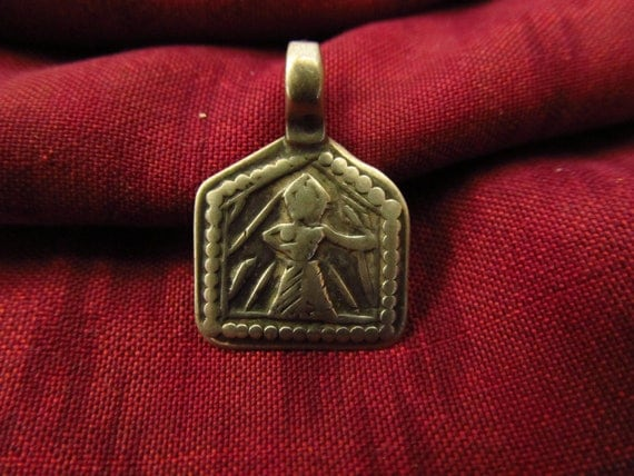 Antique Silver Devi Hindu Amulet