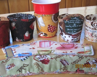 Assorted Handmade Cup Cozies - UNIQUE and LARGEST SELECTION Anywhere