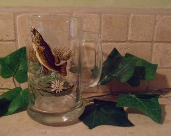 Heilemans Old Style Beer Bass Wildlife Collector Series #1 Glass Mug  14 Oz