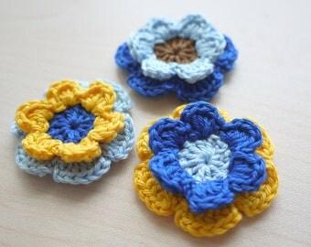 Flower Embellishments - Blue Set