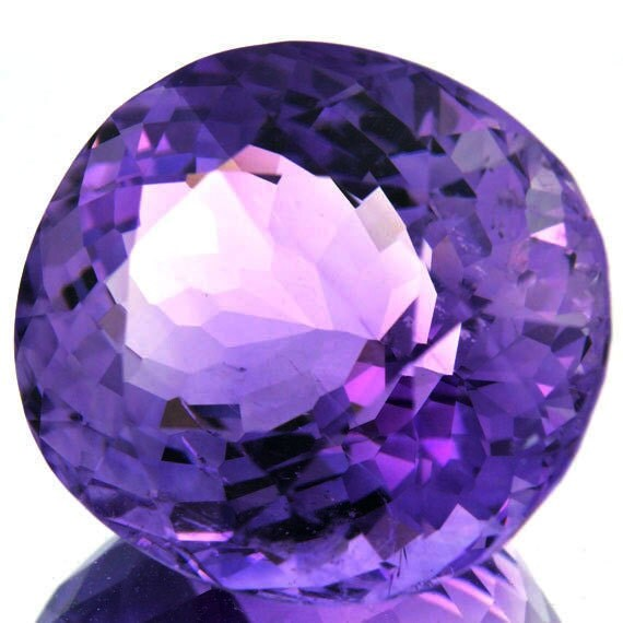 100% Natural 20.10 Cts. Handcut Faceted Natural Amethyst Loose Gemstone Semiprecious Stone UnHeated