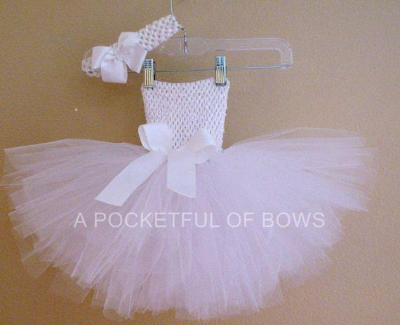 White Tutu Dress, White Toddler Tutu Dress, White Tulle Dress