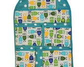 Green and Blue Owls - Car Organizer