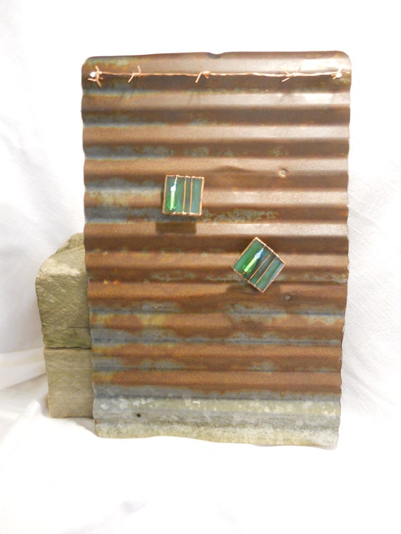 Corrugated Metal Magnet Board 2 Magnets Included