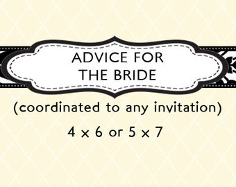 Advice for the Bride - Design Add On