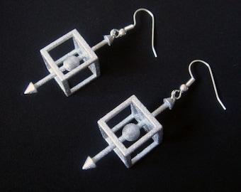 Physics Force-Body Diagram Earrings
