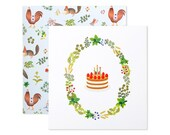 Chiffon Cake Birthday Card