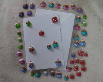50 Cup Cake embellishments for card making