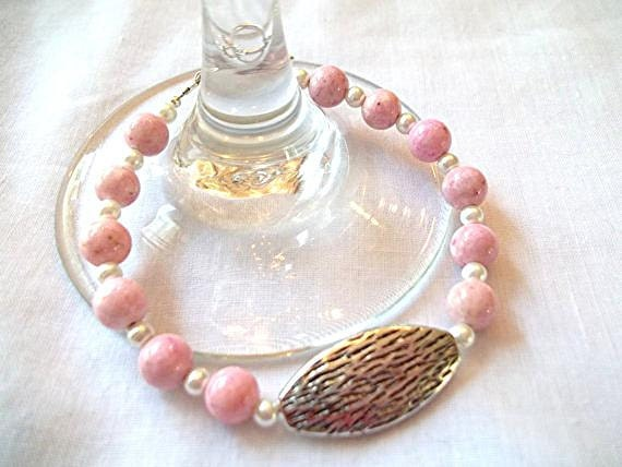 Light Pink and White Pearl Beaded Bracelet