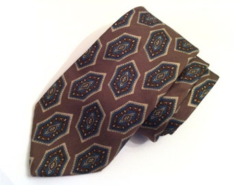 Dior Light Brown Tie, Christian Dior Necktie, Men's Vintage Tie, Silk Necktie, Designer Tie