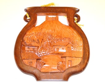 Hand Carved Wall Art, Wooden Wall Hanging, Made in Nicaragua, Hand Made Wall Art