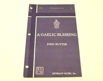 A Gaelic Blessing Sheet Music, Vintage Sheet Music, Piano Sheet Music, Vintage Music Book