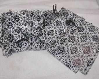 Damask Organza, Gift Bags Favor, Drawstring Bags