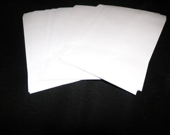 White Paper Merchandise Bags, Flat Retail Bags size 5x7 ,100 Kraft Bags, Party Retail Kraft Wedding Paper Bags