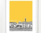 Muscat Oman Poster - Muscat City Skyline Series Art Print