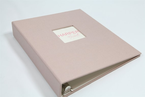 NEW...Baby Memory Book...Blush Pink...Completely Handmade..The Sweet Rhino...8.5x11 Page Size
