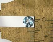 Aquamarine Faceted Round - 5mm Natural Faceted Gemstone Birthstone: LSAqua5mmRound