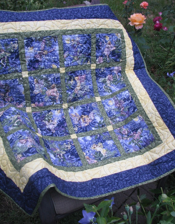 Baby Quilt - Midnight Fairies for Girls