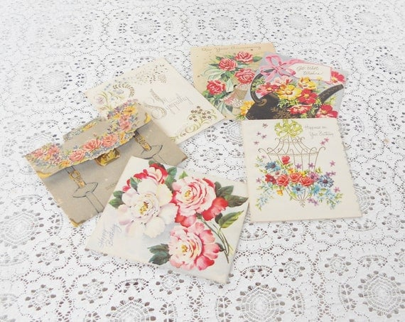 Nostalgic Rose All Occasion Vintage Boxed Cards with Envelopes