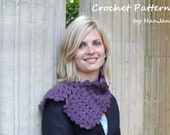 Instant Download PDF Crochet Pattern: Chunky Purple Scarf/Neckwarmer/Wrap, quick and easy UK instructions with FREE crochet tutorial