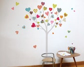 Heart Tree - kid wall sticker