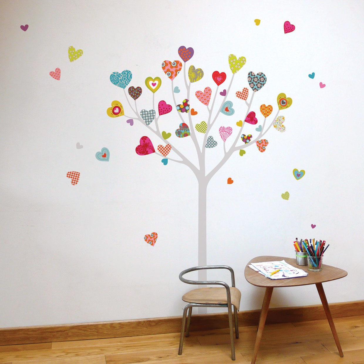 Heart tree kid wall sticker - Stickers pour maison ...