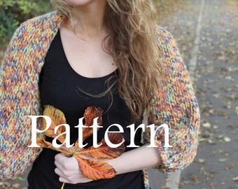 Knitting pattern - Ladies Big Autumn Shrug - Listing32