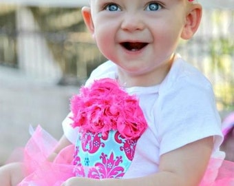 The Amelia 1st  birthday onesie cupcake