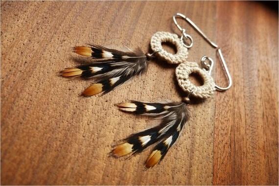 Feather Earrings Jungle & Crochet