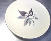 VINTAGE Homer Laughlin BREAD Dessert Plate 1950s Lotus Modern Retro