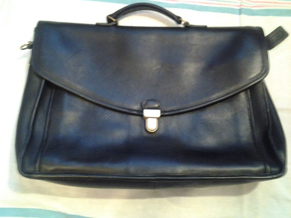 Black Leather Coach Briefcase
