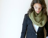 Women's Green Infinity Scarf  / Dusty Green / Women's Winter Accessories / Crocheted Green Scarf - beautiefullthings