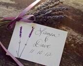 Lavender love Hand painted collection /escort cards,rustic, victorian,garden,boho, vintage, place cards, wedding favor, shower favor