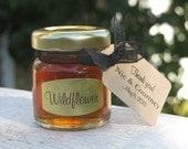 Honey in 2 oz Jars - Wildflower Honey Favors - Bridal Shower, Baby Shower, Bee Theme, Wedding Favor