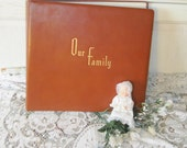 Genuine Deluxe Leather Our Family Album Very Nice Vintage Album Beautiful made Photographic Artist