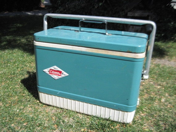 Coleman Cooler Green and White Cool Vintage Icebox