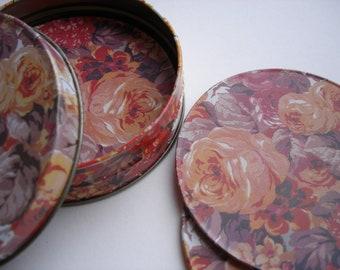 Floral Coasters - Rose Print Coasters