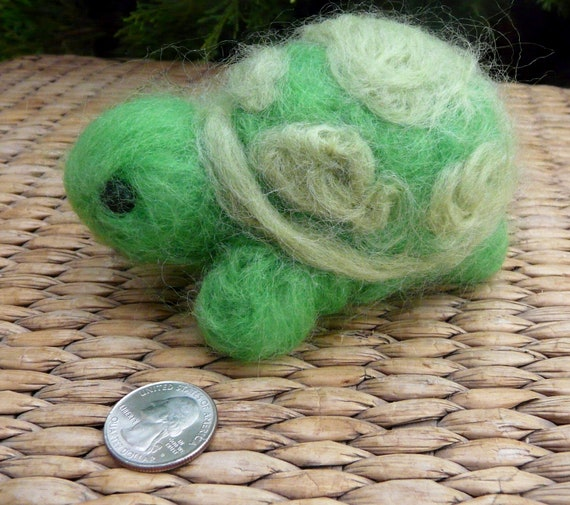 Needle felted stuffed Turtle soft sculpture-made to order