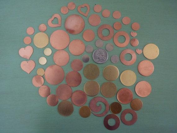 Metal Stamping Blanks - Copper, Brass, Rich Low Brass, Nickel Silver