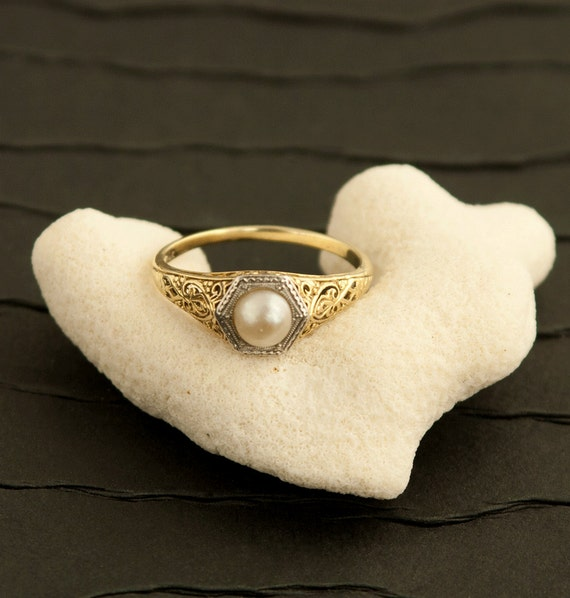 antique edwardian pearl ring