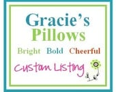 Custom LIsting for Erica.Accent Pillow.12x20 inch.Decorator Pillow Cover. Bright Multi Colored Floral Print