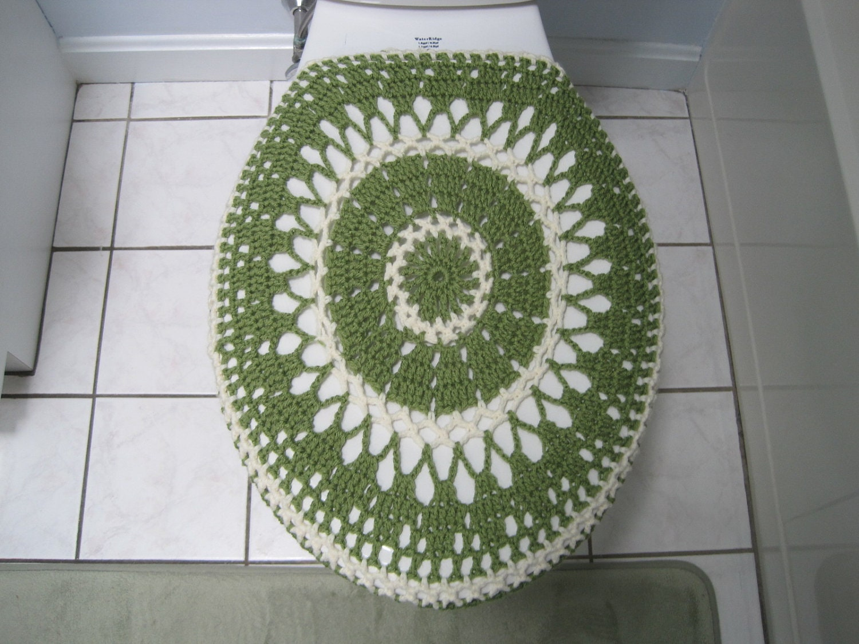 crochet toilet seat cover or crochet toilet tank lid cover. Black Bedroom Furniture Sets. Home Design Ideas