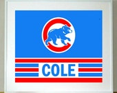 Chicago Cubs Baseball Personalized Print 8 x 10 sports print
