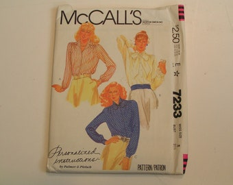Vintage McCalls Pattern 7233 Miss Blouse