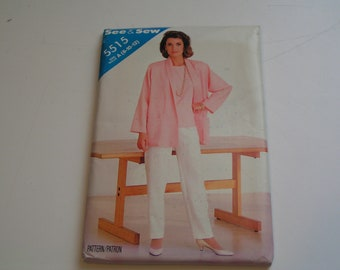 Vintage Butterick Pattern See Sew 5515 Miss Jacket Pants Top