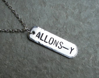 Dr. Who Necklace ALLONS-Y narrow